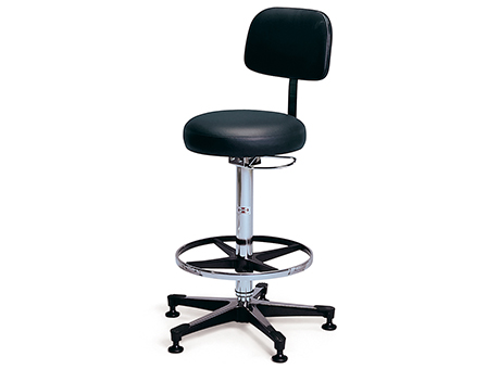 Medical Exam Stool With Back Model Pneumatic Lab Stool